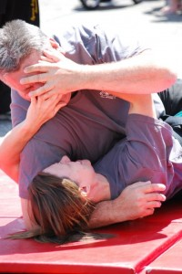 Self Defense Eye Gouge From Ground - Self Defense Classes New Albany